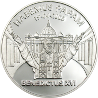Benedict XVI Habemus Papam – Silver
