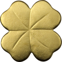 Four-Leaf Clover in gold