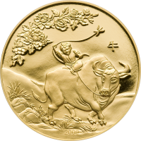 Lunar Year of the Ox 2009 gold