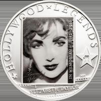 Liz Taylor in Memoriam silver