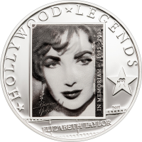 Liz Taylor in Memoriam silverplated