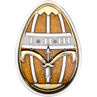 Imperial Eggs in Cloisonné – Egg in Gold