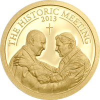 The Historic Meeting – Two Popes gold