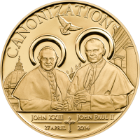 Canonization of the Popes – Cu gilded