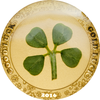 Four-Leaf Clover in Gold 2016