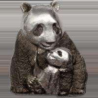Silver Lucky Panda