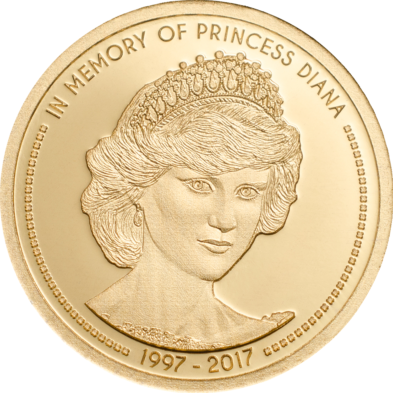 Big Gold Minting coin in memory of princess diana