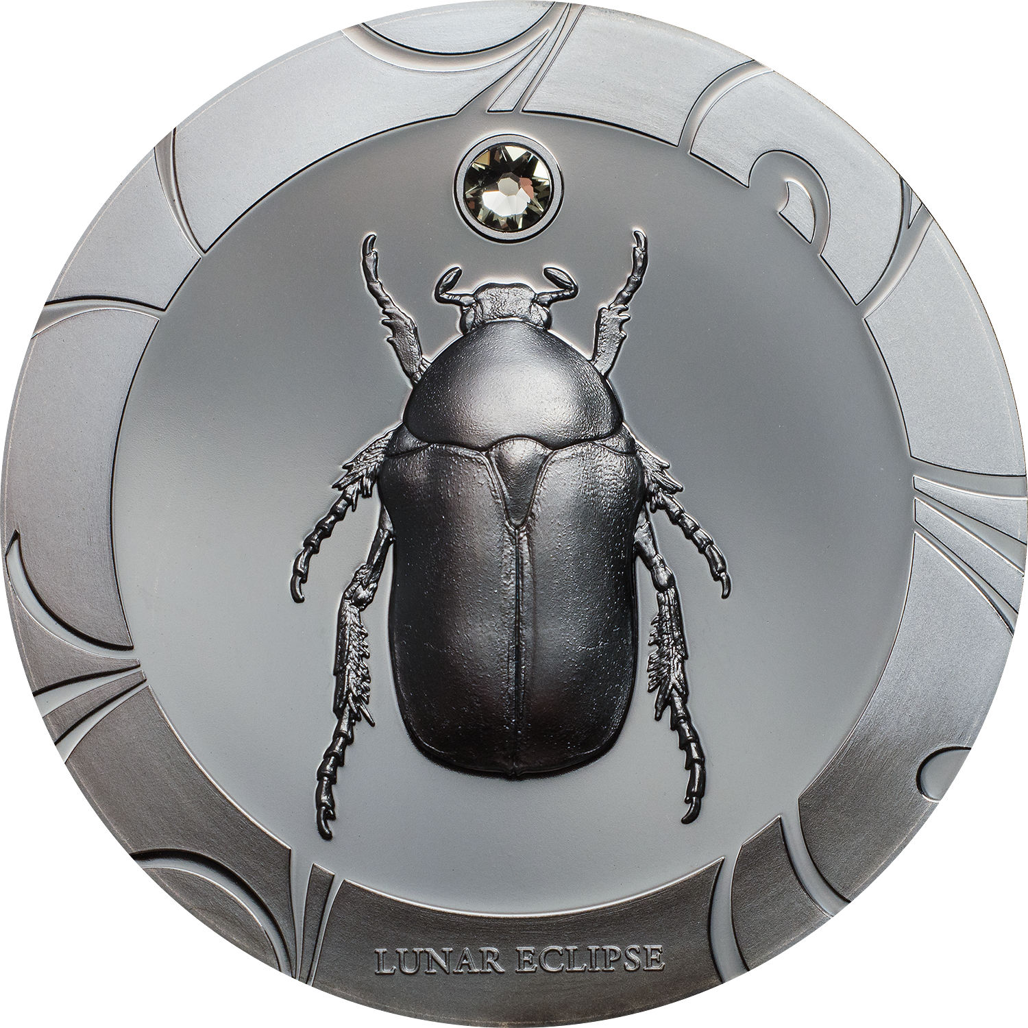 Set of three scarab silver coins by CIT with smartminting