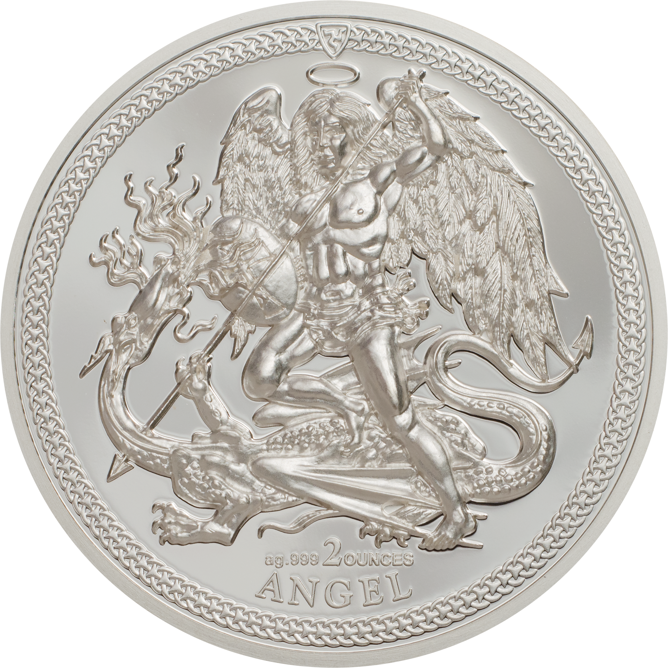 one angel piedfort silver coin with smartminting