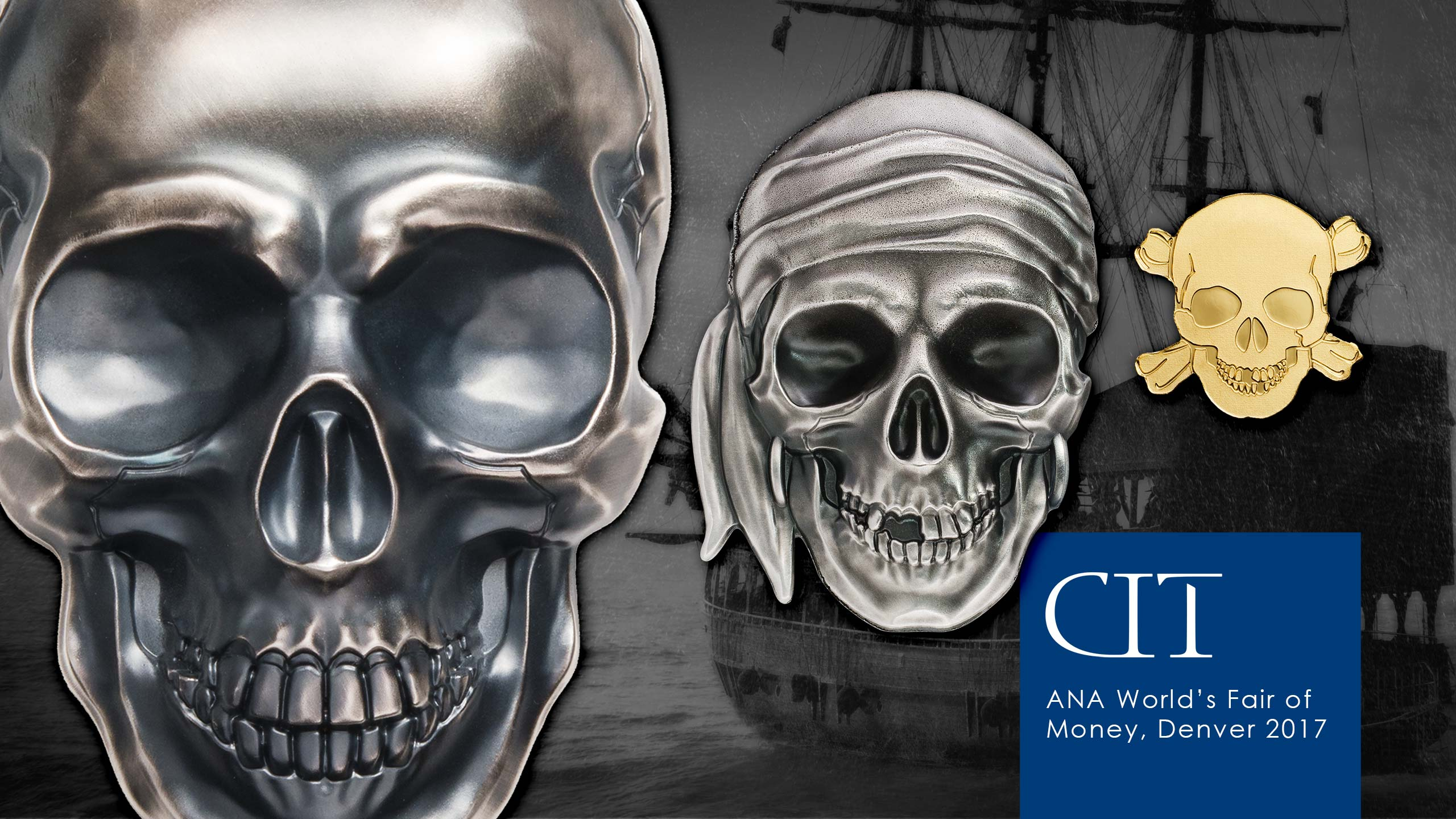 cit silver coin skulls for ana denver coin show 2017