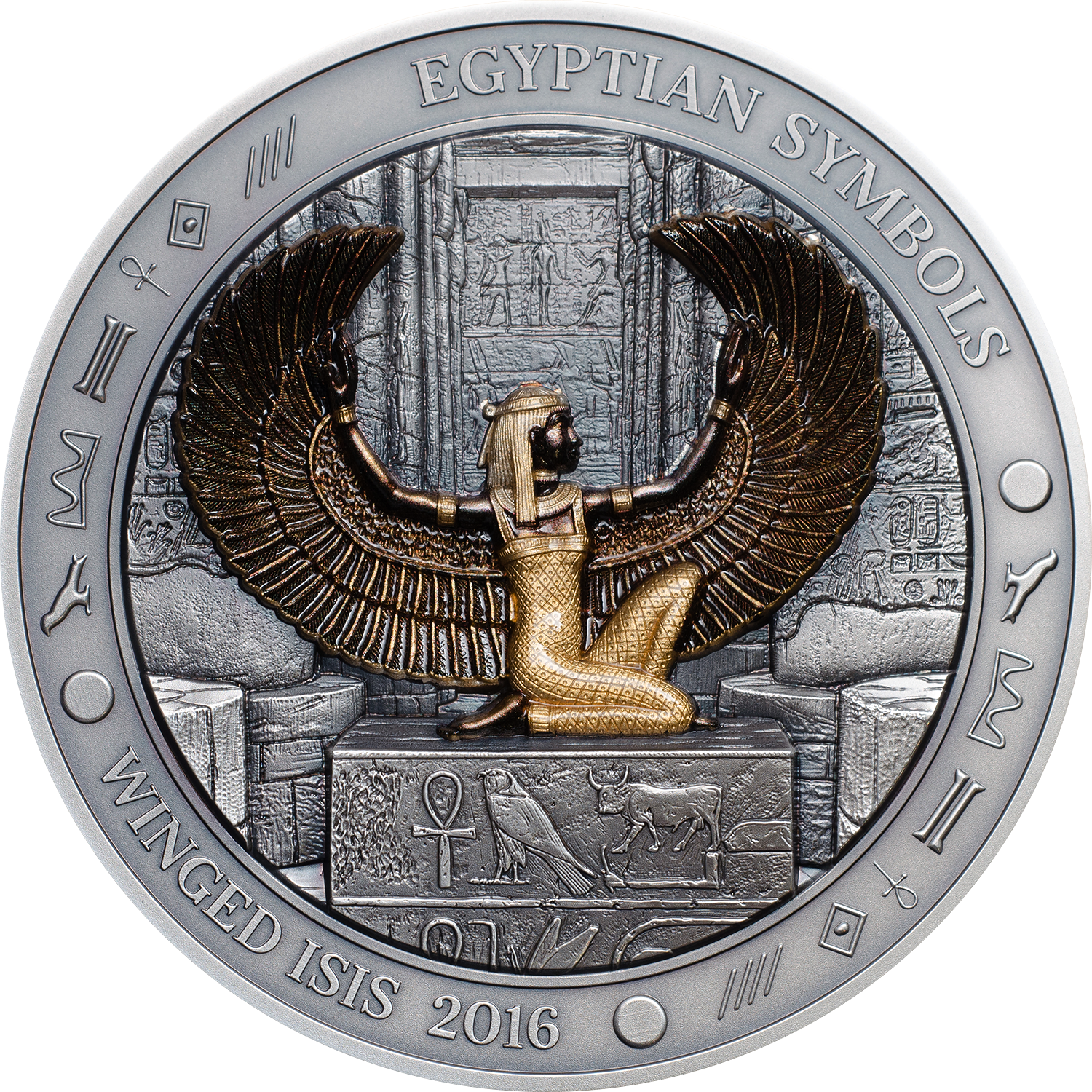 Winged Isis award winning silver coin at coin constellation 2017