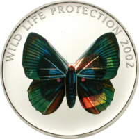 Butterfly green-blue Silver