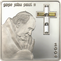 Pope John Paul II – Crystal-Cross
