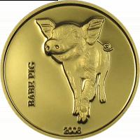 Babe pig – gold