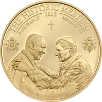 The Historic Meeting – Two Popes goldplated
