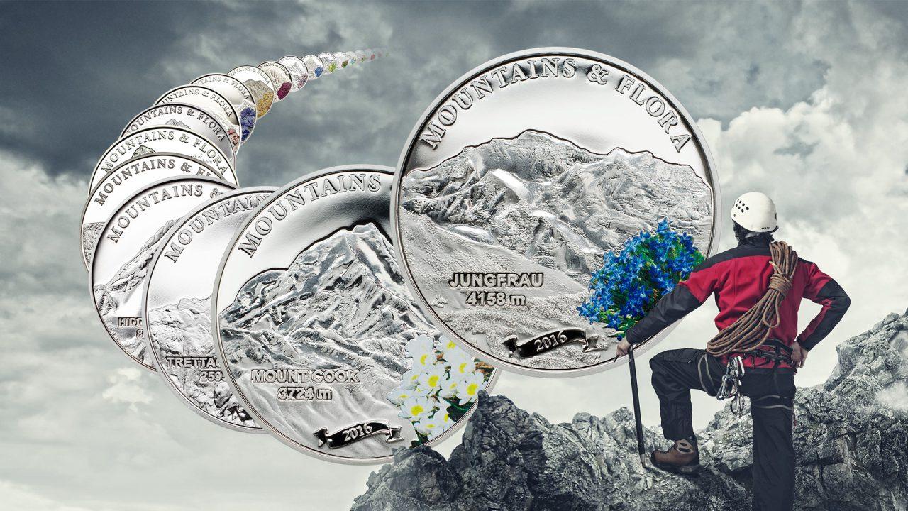 Ayers Rock 5$ Palau Mountains Flora 2010 Silver Coin