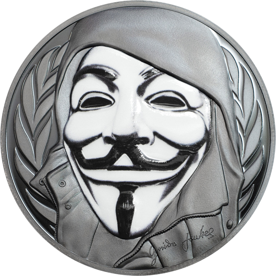 Guy Fawkes Mask Cit Coin Invest Ag