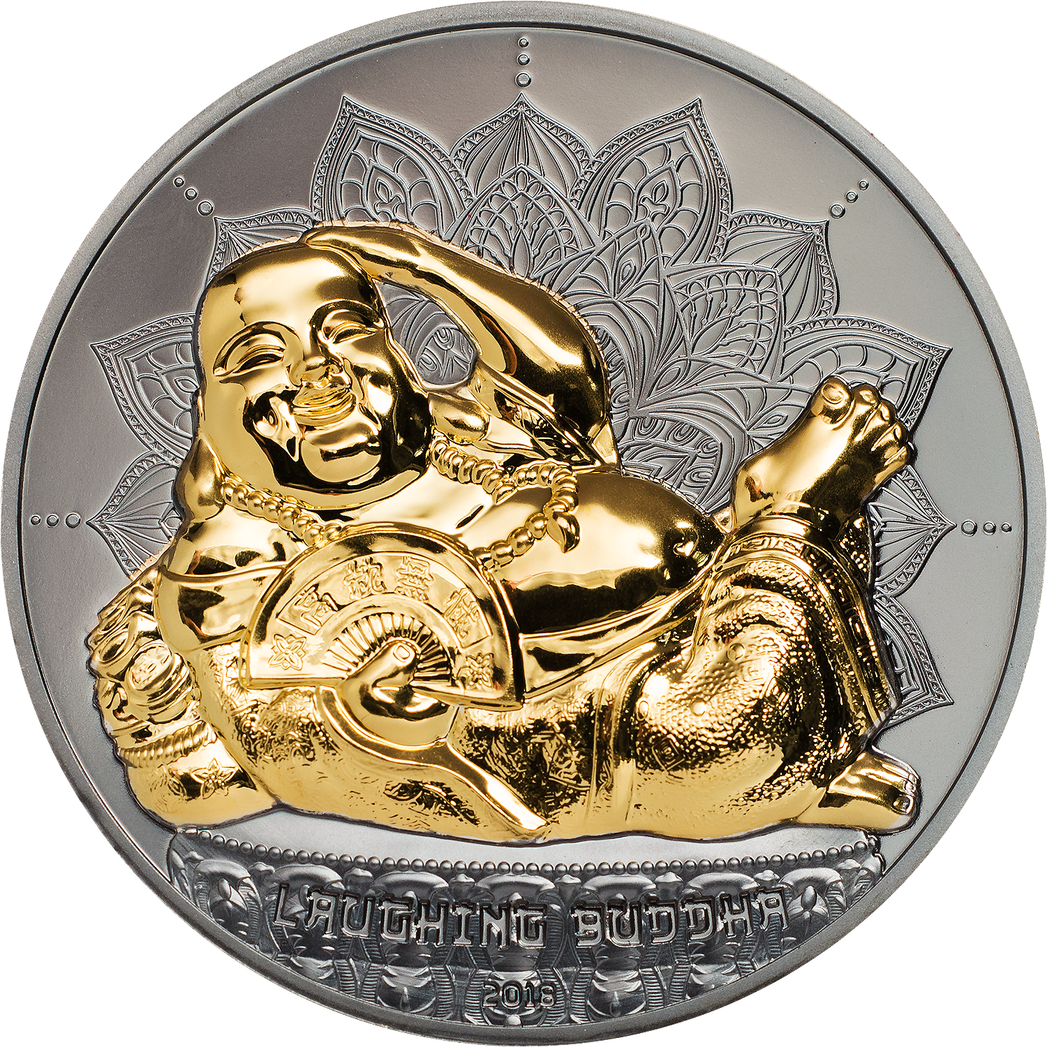 laughing buddha buddai smartminting happy buddha with high relief cit coin invest black proof gilded coin