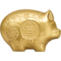 Gilded Jolly Pig