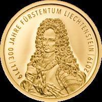 300 Years Liechtenstein 10.- (Au)