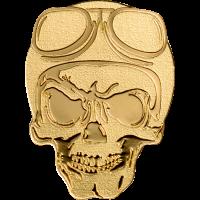 Golden Biker Skull